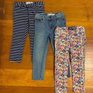 Girls 3T Pants Bundle: Old Navy and Levi's